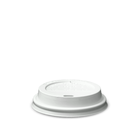 Coffee Cup Lid, White 8 oz